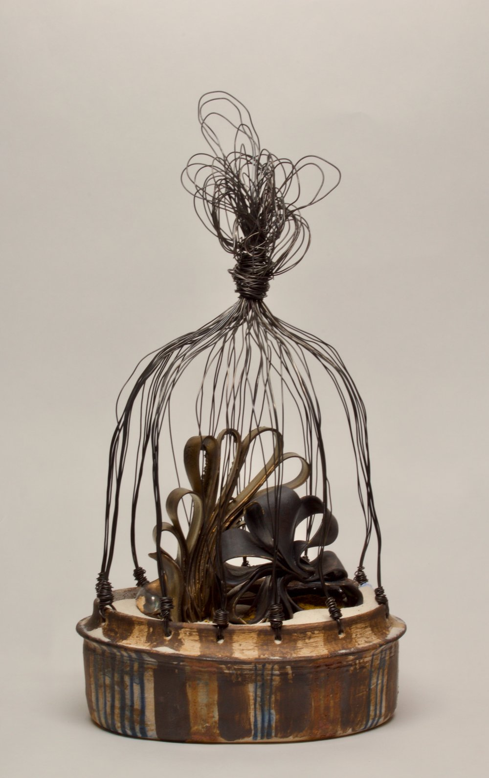 "'the prayer to and word from God, when Isabella Baumfree changec her name' (c. 1979 - 1883), Stoneware, Porcelain Paper Clay, Silica Sand, Wire, 14"" x 7.5"" x 4.5"", 2018"