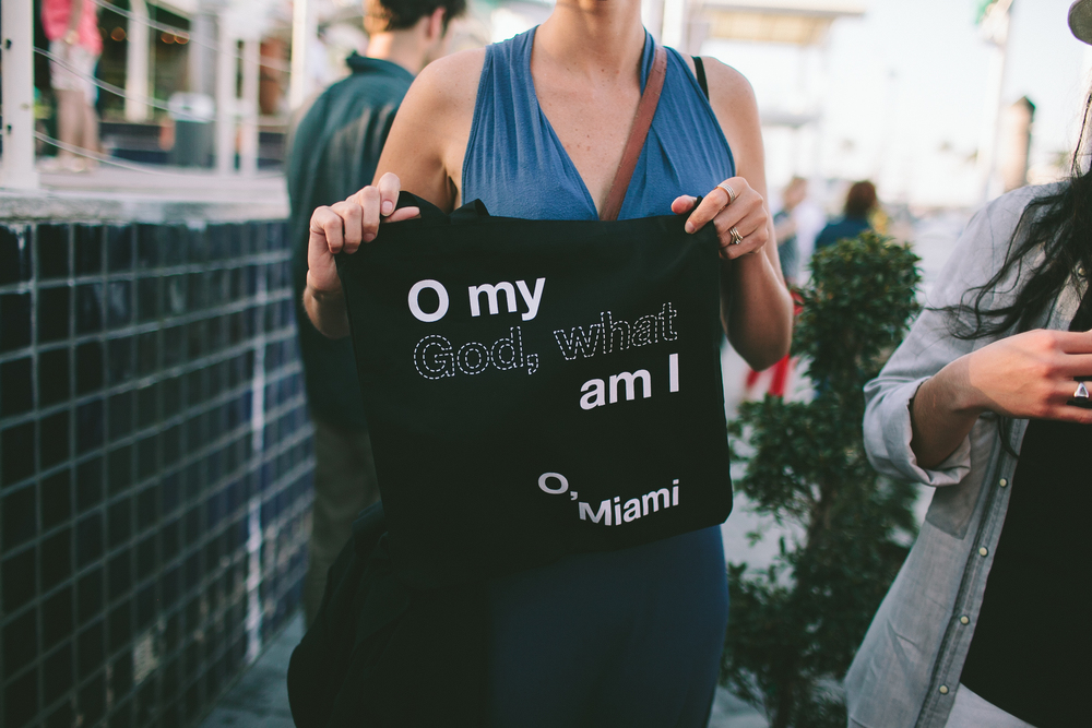 This year's tote, taken before boarding The Miami River Poetry Cruise