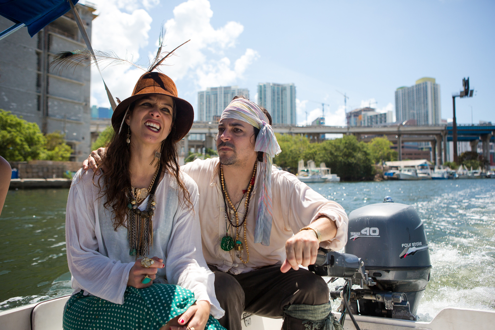 Antonia Wright and Ruben Millares, the captains of our fleet and creators of Poetry Pirates -- RD