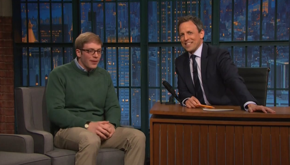 Joe Pera on  Late Night with Seth Meyers , 2016
