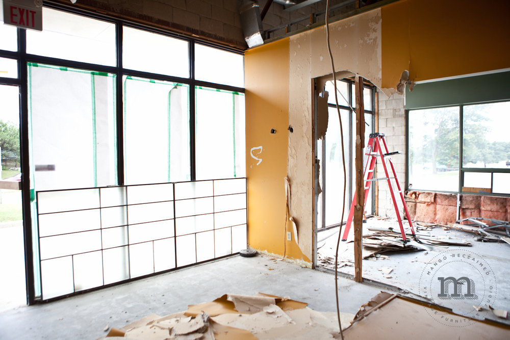 Let in the light! This will be the future showroom for Mango Reclaimed. Can you picture it?