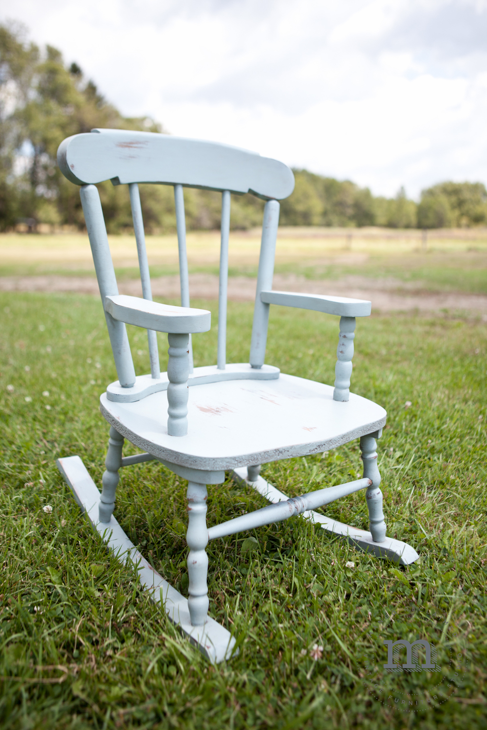 A sweet little chair for a sweet little person.