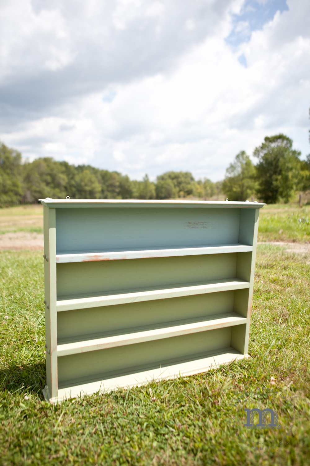 Inspired by the beauty of a grassy field and a blue sky - this shelf would look great in any home.