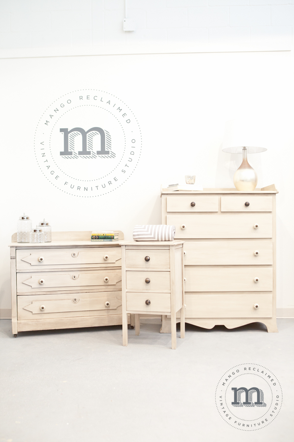 Custom restyled bedroom set by Mango Reclaimed. Styled and accessorized by  The Inspiration Nest . All products available for purchase at Mango Reclaimed.