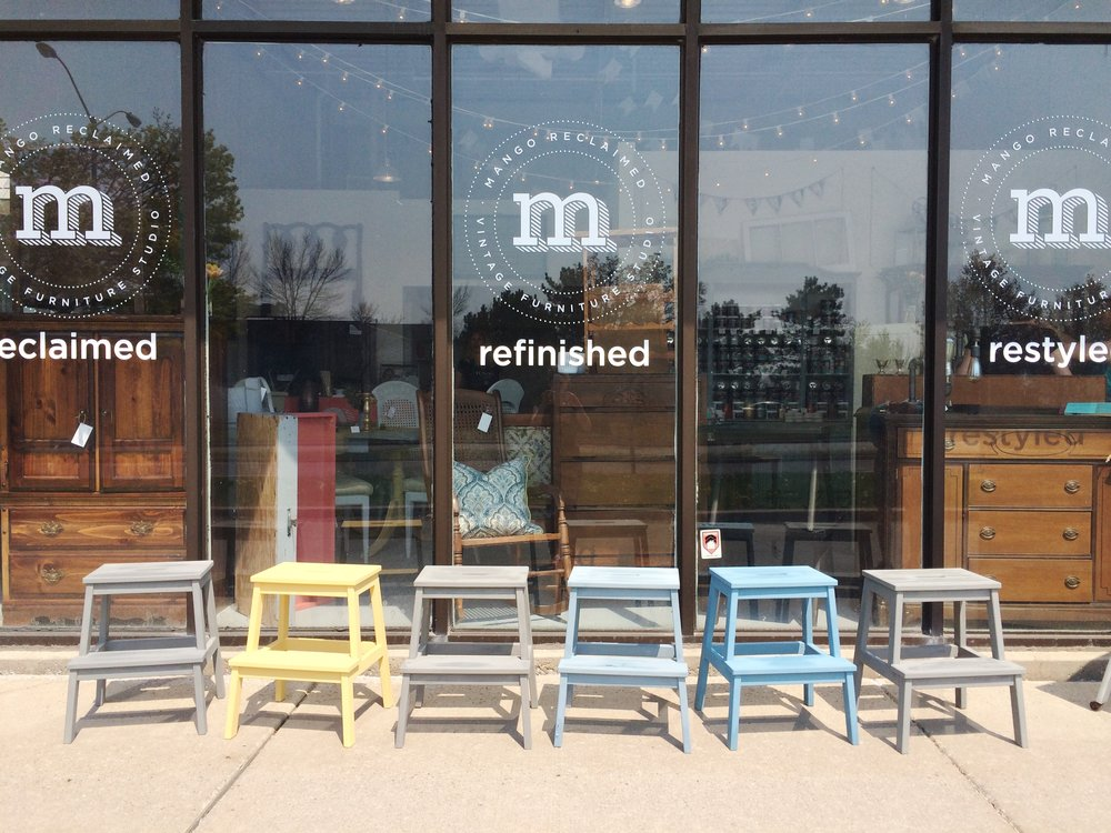 Step stool workshop with Miss Mustard Seed's Milk paint!     Friday March 17th, 1-4pm