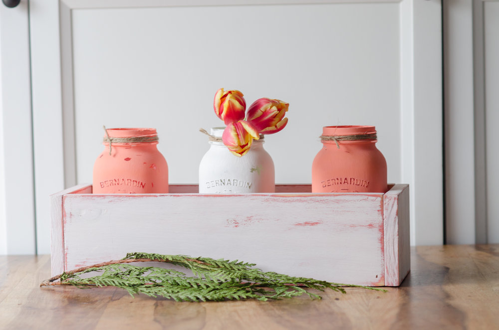 Miss Mustard Seed's Milk paint - Custom Table box and mason jars! Sat June 10th, 12:30 - 3pm!
