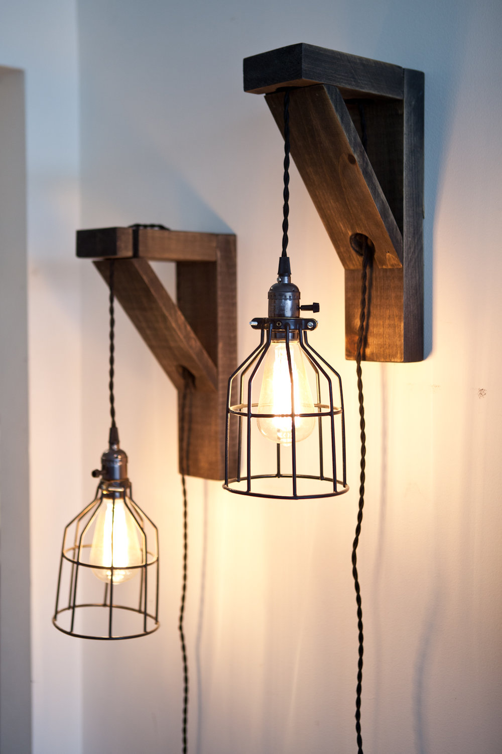 Wall sconces - build and paint workshop! Wednesday March 27th, 6-8pm.