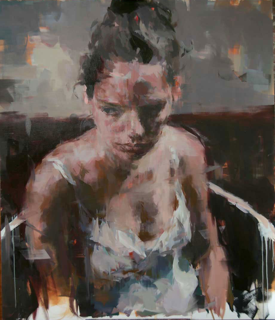 "Anne Claire # 2 . 2011, 84"" x 72"", (213 x 183 cm) oil on canvas"