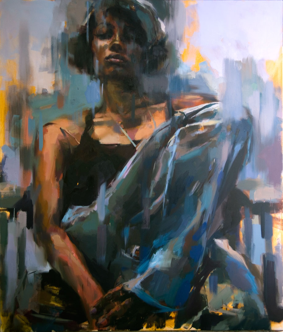 "Imany . 2007, 72"" x 84"", (200 x 250 cm) oil on canvas"