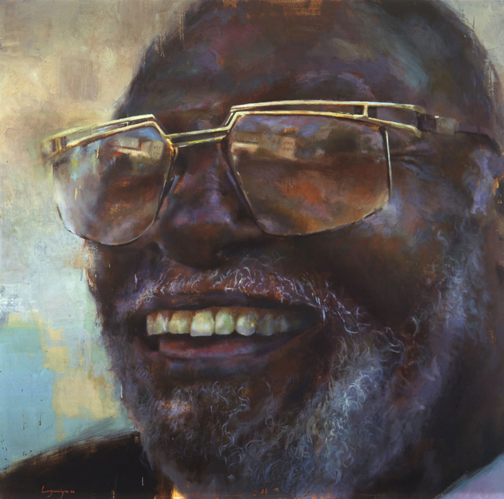 "Uncle Jacky . 2005, 64"" x 64"", (162 x 162 cm) oil on canvas"