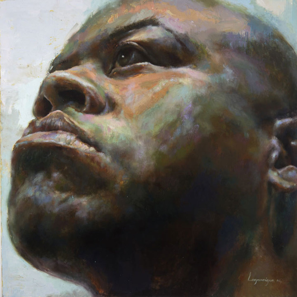 "Troy . 2004, 62"" x 62"", (157 x 157 cm) oil on canvas"