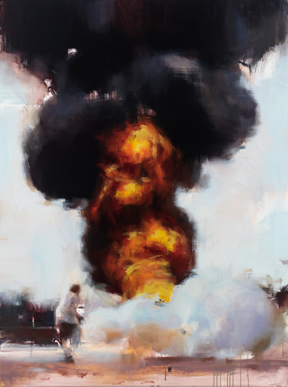 """ The Fall of Sector X""  2015,  40"" x 30"" (100 x 76 cm), oil on linen."