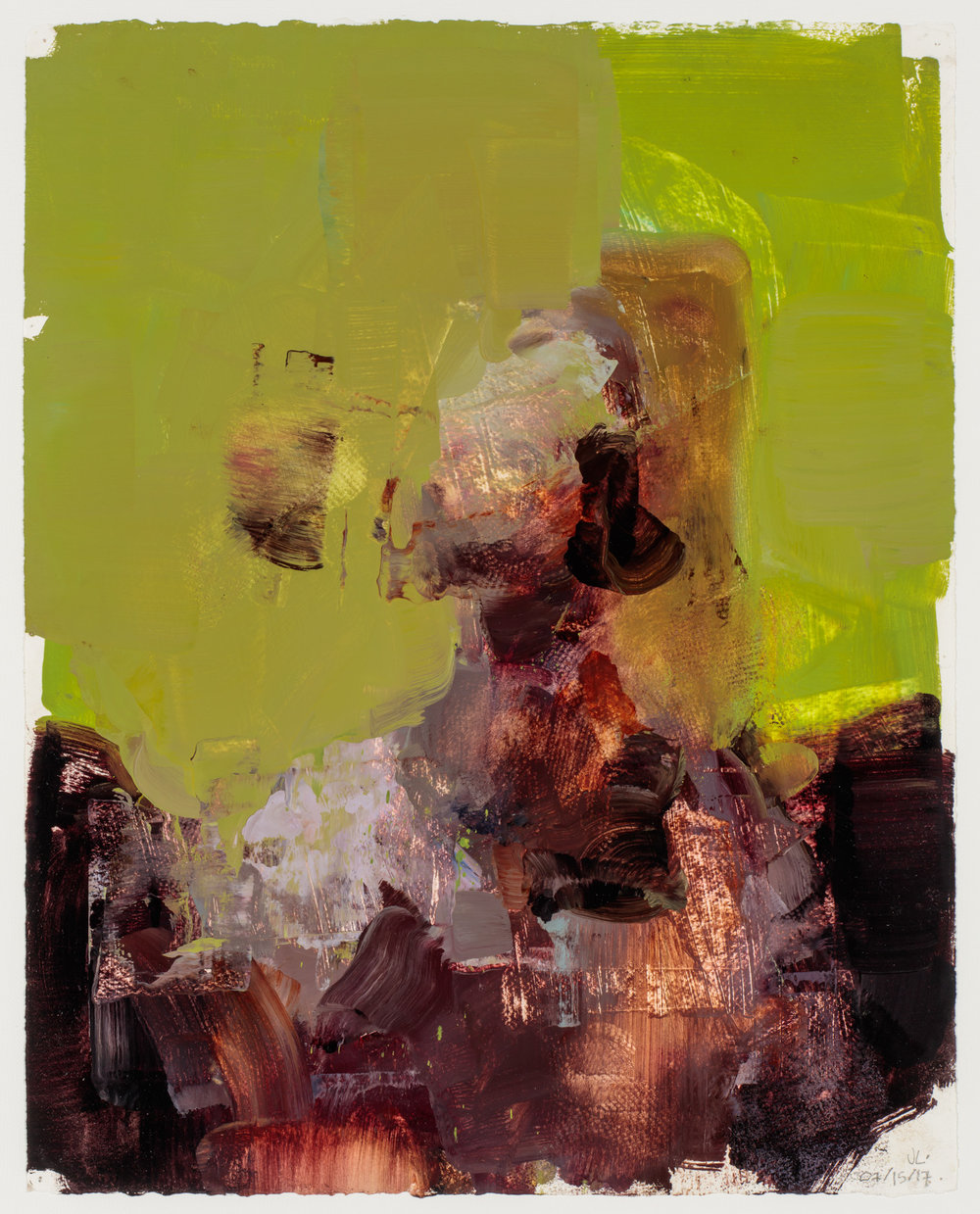 """"""" Referenceless Figure # 2""""  2017, 16"""" x 24"""" (40 x 60 cm), oil on paper."""