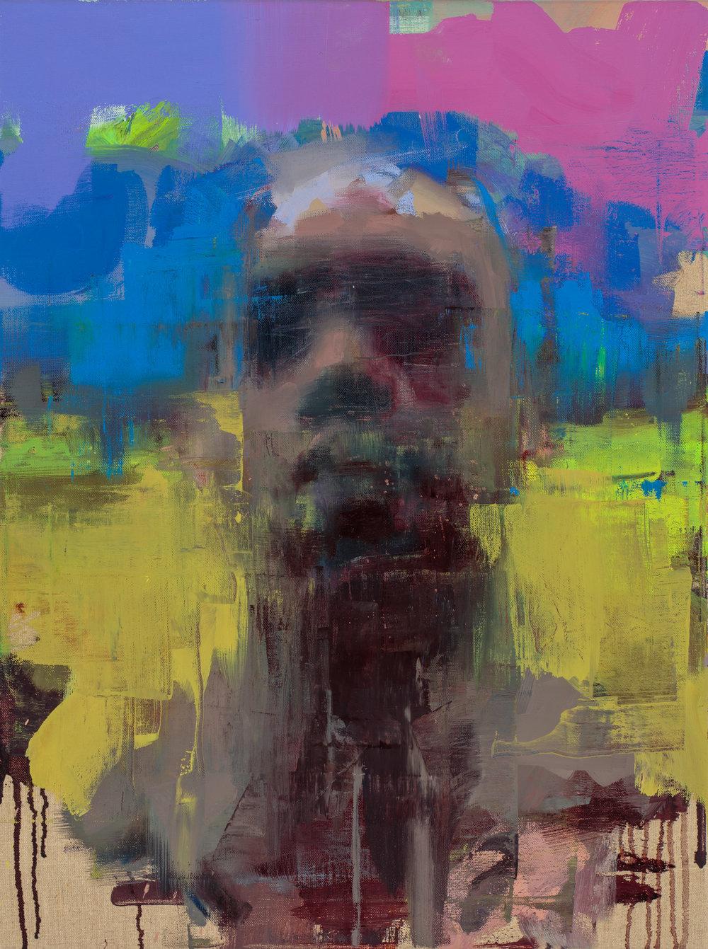 """ Untitled""  2017, 16"" x 24"" (40 x 60 cm), oil on linen."