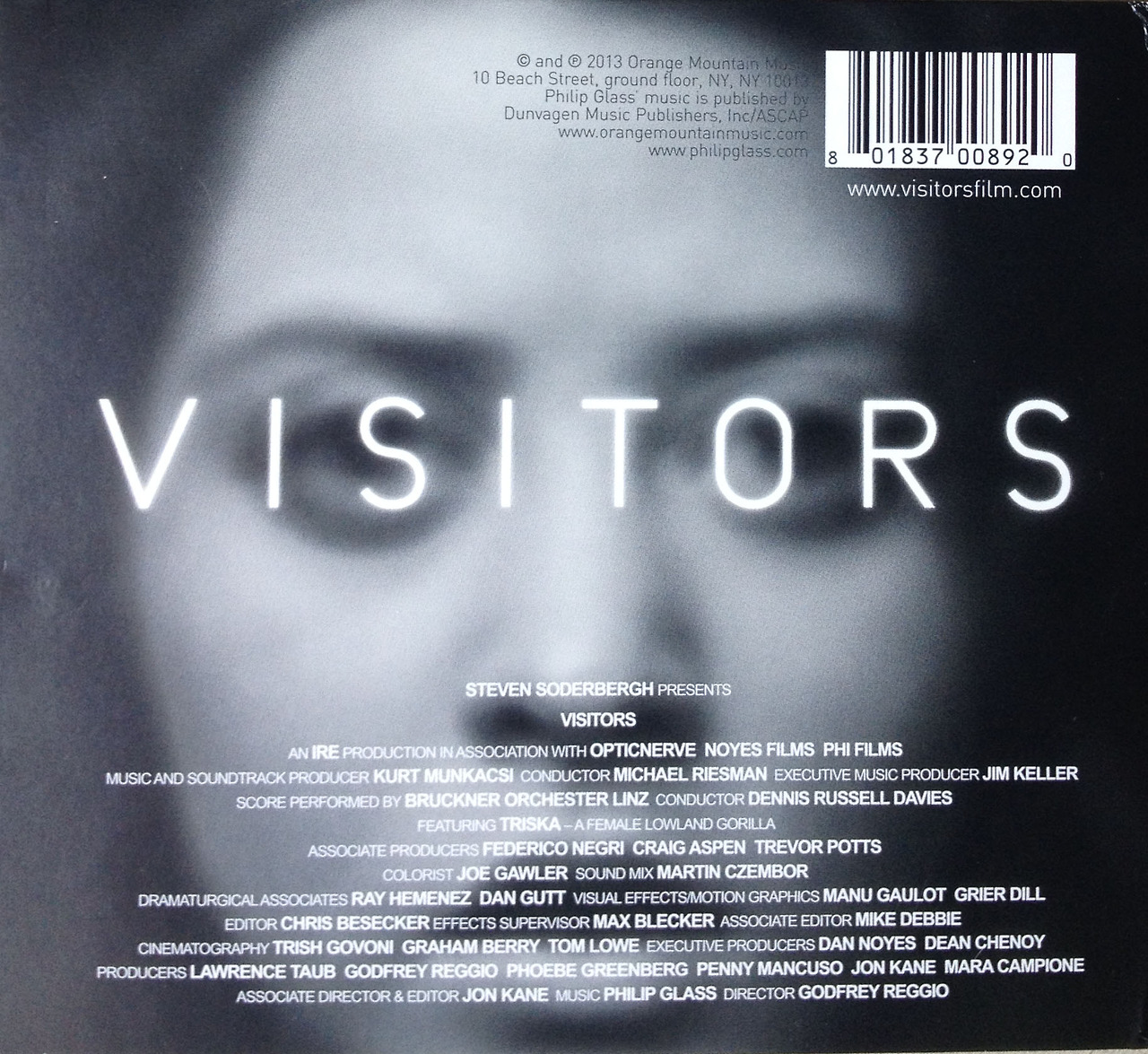 opticnerve :     Check out the back case of Philip Glass soundtrack for Visitors featuring the crew..     Note the Associate Editor Mike Debbie. Ah em, that's me!