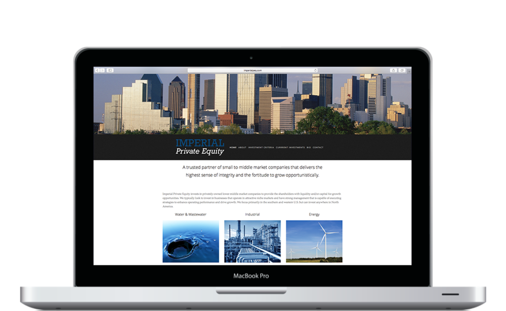 Imperial Private Equity Desktop Layout - KLN Design