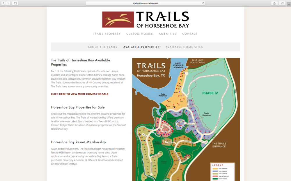 Trails of Horseshoe Bay Page Design - KLN Design