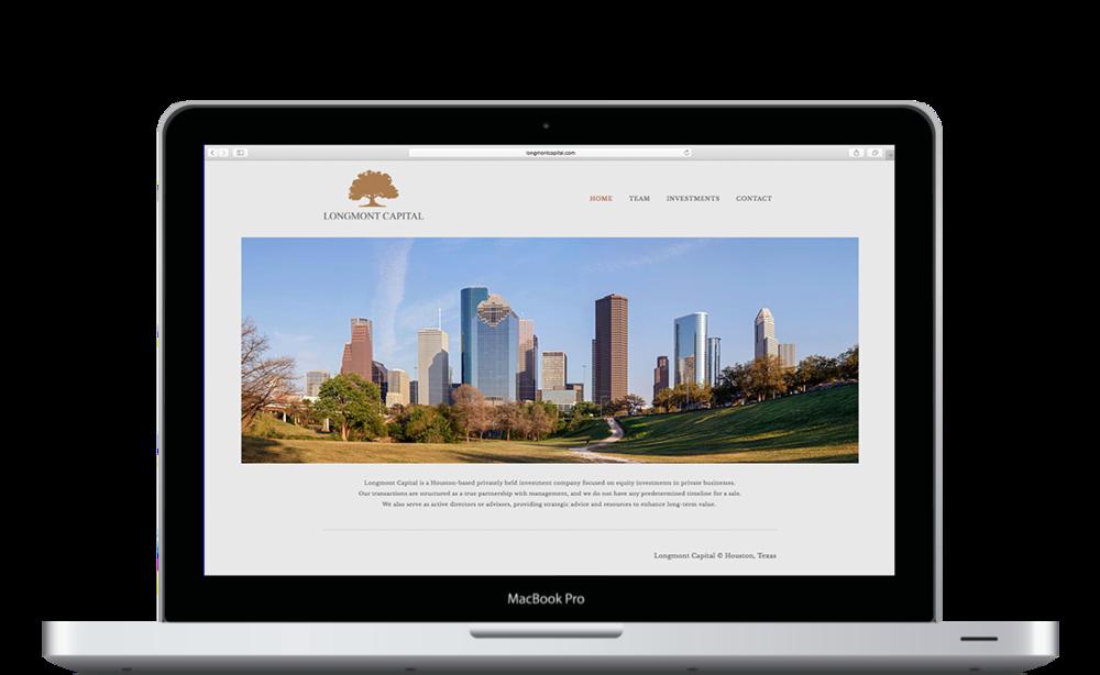 Longmont Capital Homepage Design - Desktop View - KLN Design