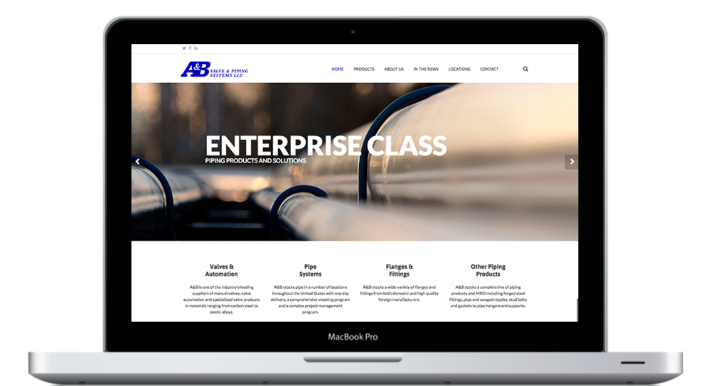Redesigning A&B Valve Website - KLN Design