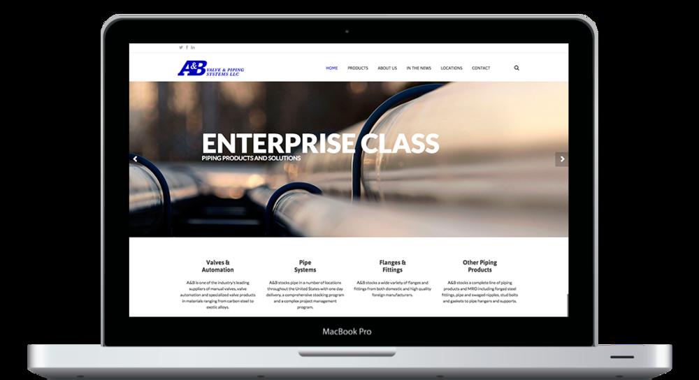 Redesigning A&B Valve Homepage - KLN Design