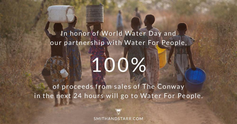 Smith and Starr World Water Day Banner Design - KLN Design