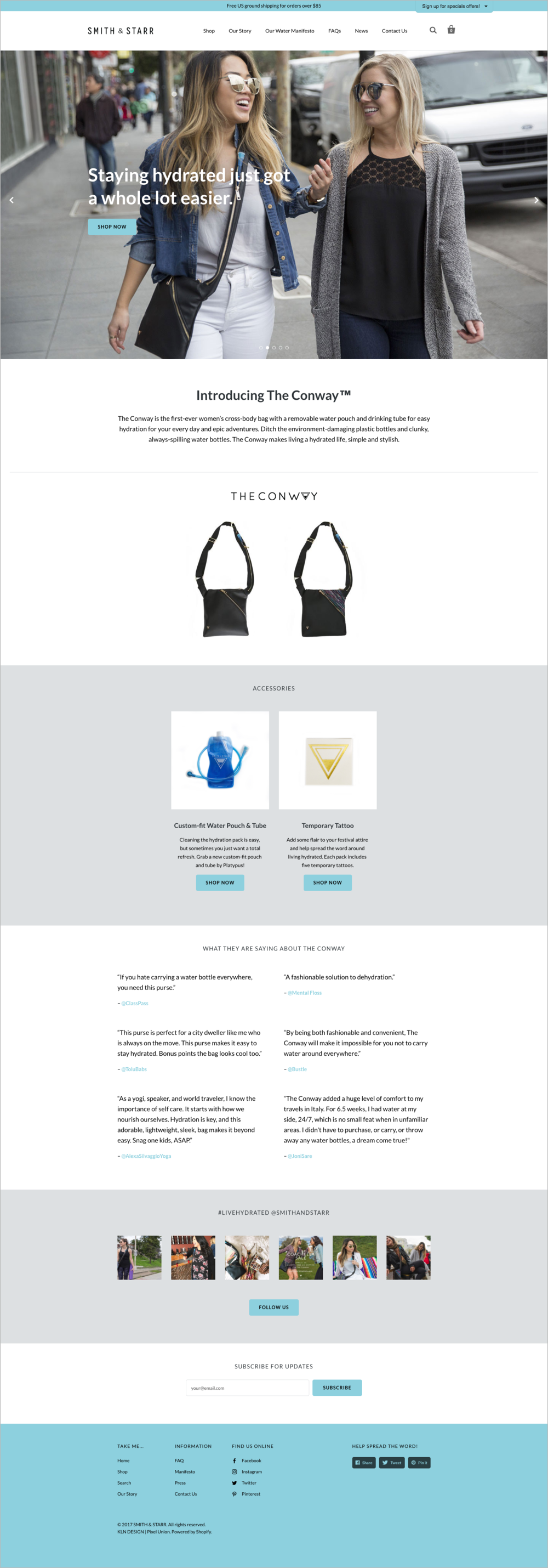 Smith & Starr Homepage Design - KLN Design