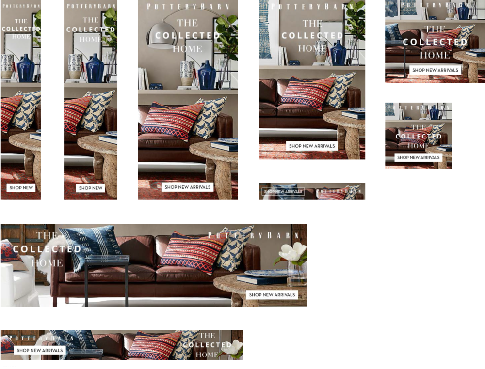 Pottery Barn Banner and Promotional Ad Designs - KLN Design