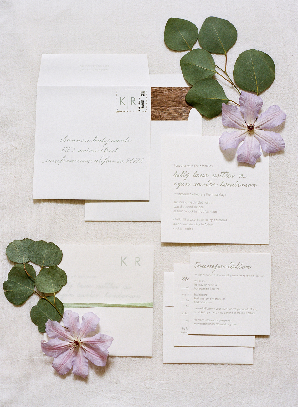 3 Gray Wedding Stationary Suite - KLN Design