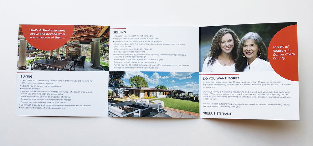 Inside Brochure Design for Stella & Stephanie Realty - KLN Design