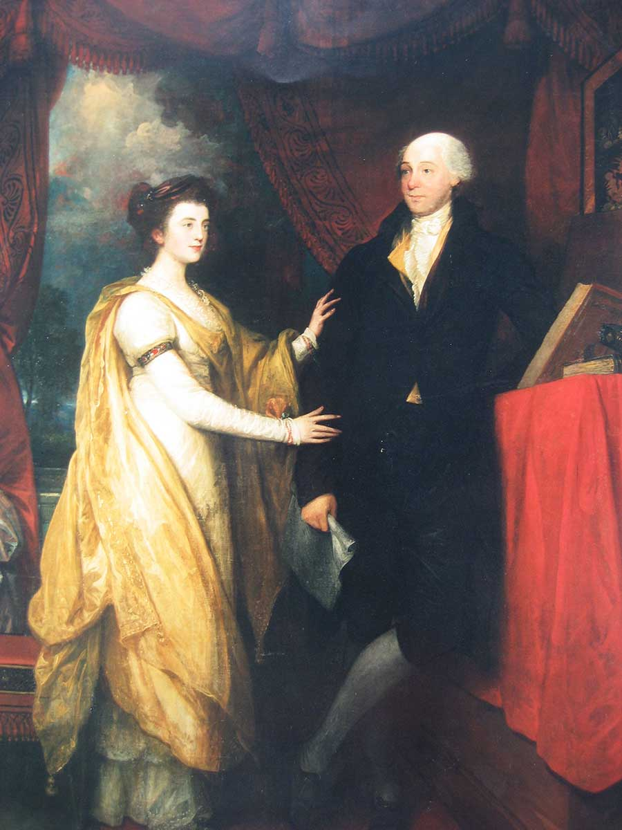 Benjamin West.  Portrait of William Hamilton and Ann Hamilton Lyle   ,  oil on canvas, 1745-1813 (Historical Society of Pennsylvania,   Philadelphia).