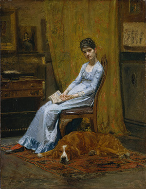 The Artist's Wife and His Setter Dog, from the Metropolitan Museum of Art