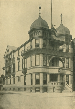 Columbia Club on North Broad Street, designed by John Ord; image from The Athenaeum of Philadelphia