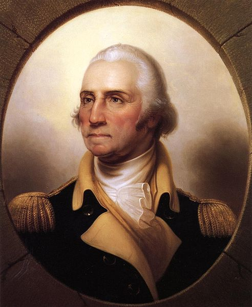 Portrait of George Washington by Rembrandt Peale; from the Athenaeum of Philadelphia