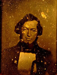 Daguerreotype of Elliott Cresson taken by Robert Cornelius in 1840.