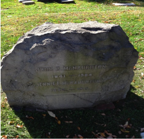John C. McNaughton's headstone.