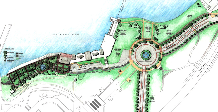 Master plan for Fairmount Water Works, prepared by MBTA.