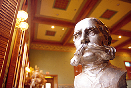 Bust of William Bucknell. From Bucknell University.