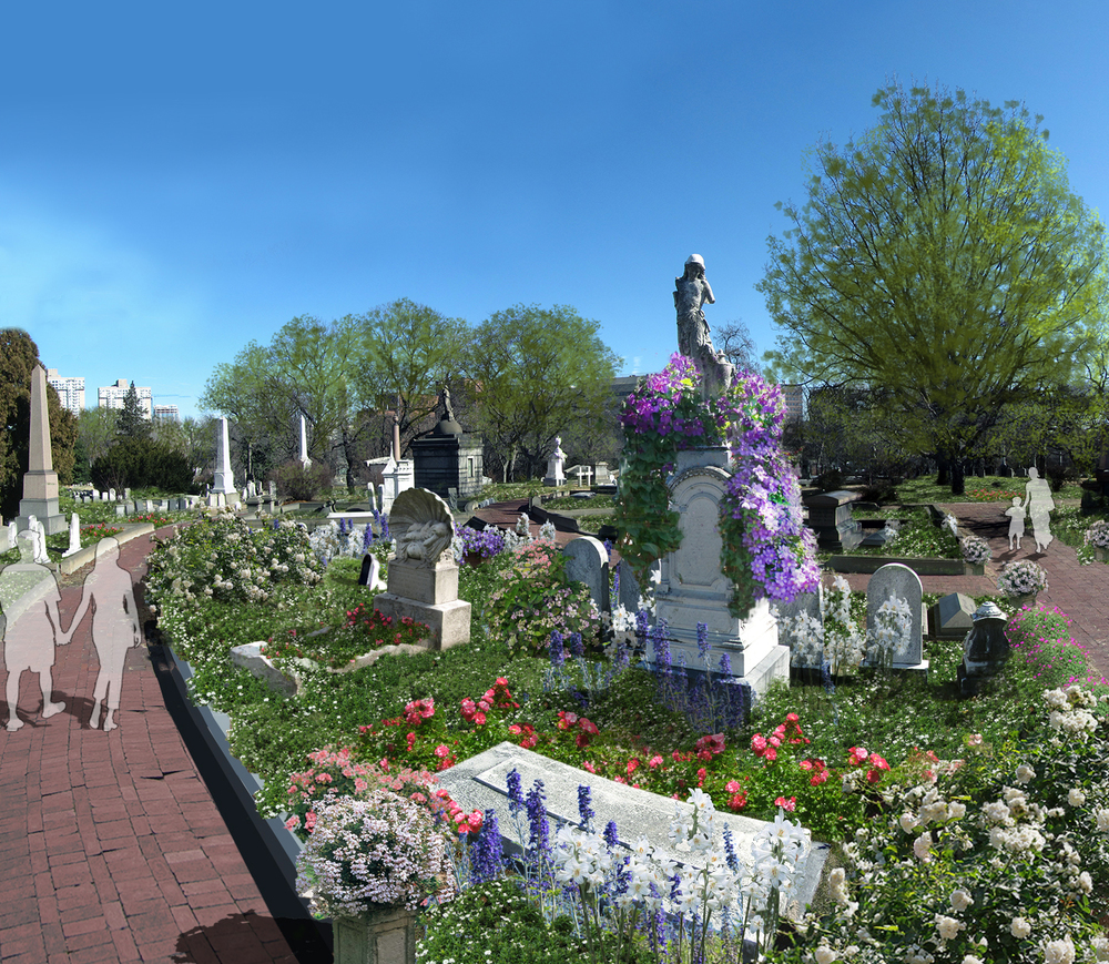 "Victorian Garden at Center Circle, Rendering from ""Woodlands Connects"" our recently completed Master Plan."