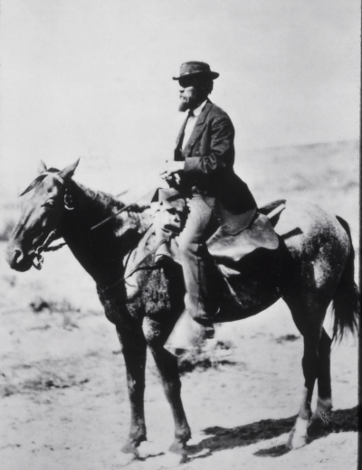 Ferdinand Hayden, the leader of an 1871 surveying expedition to the Yellowstone area.
