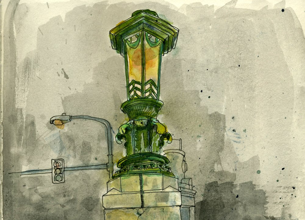 Detail of the University Avenue Bridge by artist Ben Leech