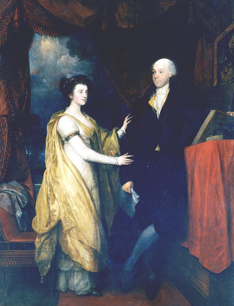 Benjamin West. Portrait of William Hamilton and Ann Hamilton Lyle  , oil on canvas, 1745-1813 (Historical Society of Pennsylvania,  Philadelphia).