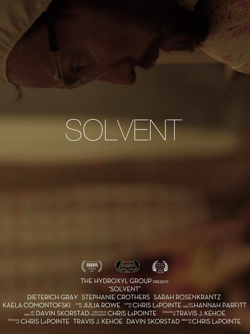 'Solvent' screens as officIal selectIon at festivals  - Kaela plays Trish in Solvent, an official selection at Ozark Shorts, Blackbird, and CinemAvvenire Film Festivals.CLICK TO WATCH