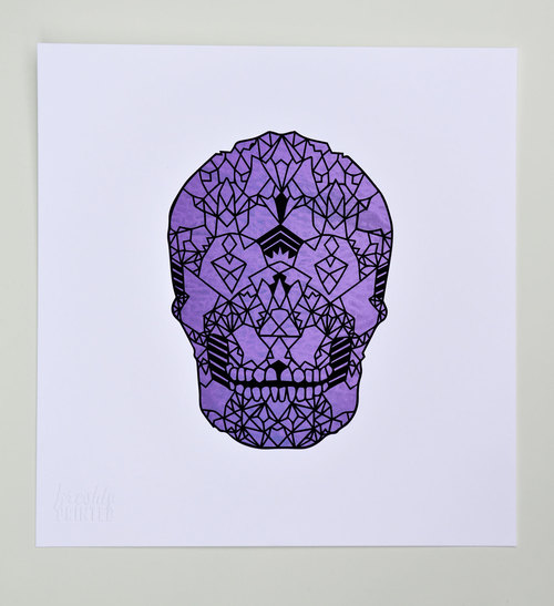 Coral Skull,  2013. Screenprint
