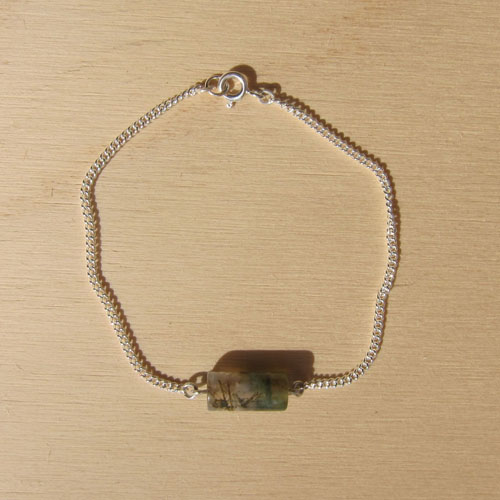 MOSS bracelet with moss agate
