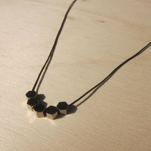 HEXAGON STACKER necklace