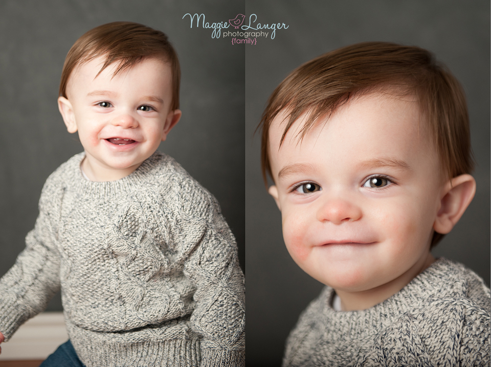 Handsomeness. Laughing at his mommy being silly. Toddler photos are always a team effort with the parents.