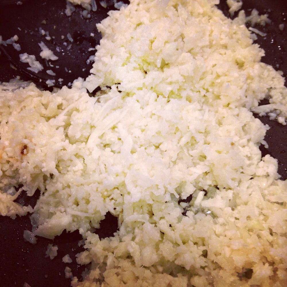 2 pounds of cauliflower florets, minced onion, and minced garlic. 4-5 servings $3.04