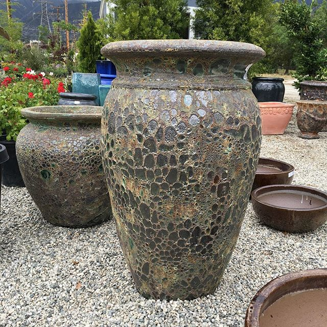 We're loving our new collection of pots... stop by and check them out! Mention this post and receive 25% off all pottery through Mother's Day! #crownvalleynursery #pottery #garden