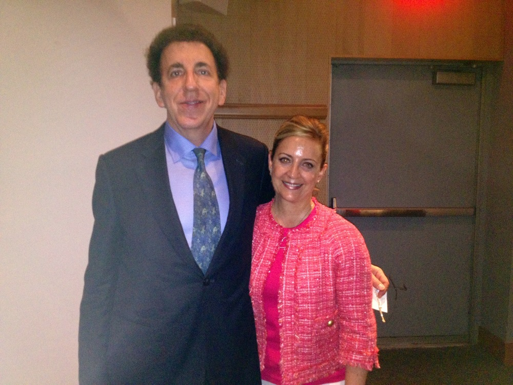 Dr Dean Ornish & Pam at Beth Israel Medical Center, May 2013