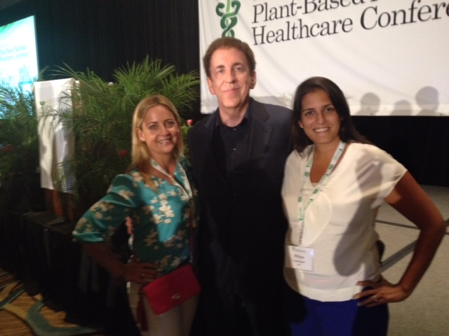 Pam, Dr Dean Ornish, Priya